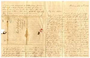 Primary view of [Letter from Maud C. Fentress to her son David - February 19, 1862]