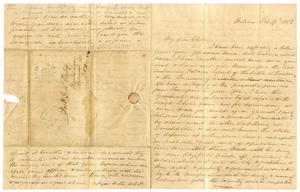 Primary view of [Letter from Maud C. Fentress to David Fentress, February 27, 1862]