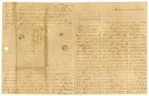 Primary view of object titled '[Letter from Maud C. Fentress to David Fentress, March 3, 1862]'.