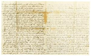 Primary view of object titled '[Letter from Maud C. Fentress to David W. Fentress, September 28, 1865]'.