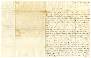 Primary view of [Letter from Sallie  Maud C. Fentress to David W. Fentress,  May 17, 1859]