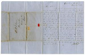 Primary view of object titled '[Letter from David Fentress to his wife Clara, March 31, 1862]'.