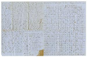 Primary view of object titled '[Letter from David Fentress to wife Clara, August 4, 1863]'.