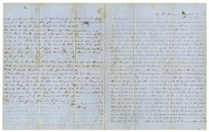 Primary view of [Letter from David Fentress to wife Clara, June 2, 1864]
