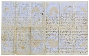 Primary view of object titled '[Letter from W. M. Yandell to M. C. Fentress, October 29,1865]'.
