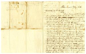 Primary view of object titled '[Letter from W.H. Wood to David W. Fentress, May  5, 1856]'.