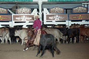 Primary view of object titled 'Cutting Horse Competition: Image 1997_D-101_21'.