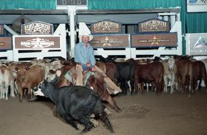 Primary view of object titled 'Cutting Horse Competition: Image 1997_D-102_09'.