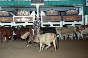Primary view of object titled 'Cutting Horse Competition: Image 1997_D-102_28'.