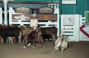 Primary view of object titled 'Cutting Horse Competition: Image 1997_D-103_11'.