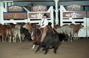 Primary view of object titled 'Cutting Horse Competition: Image 1997_D-105_01'.