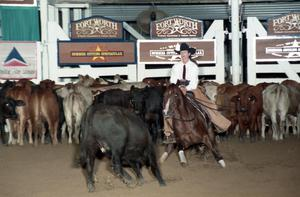 Primary view of object titled 'Cutting Horse Competition: Image 1997_D-105_02'.