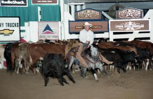 Primary view of object titled 'Cutting Horse Competition: Image 1997_D-107_36'.