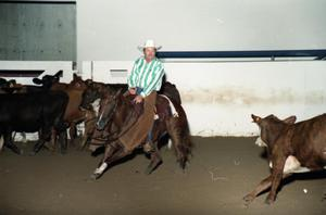 Primary view of object titled 'Cutting Horse Competition: Image 1997_D-10_02'.