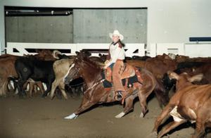 Primary view of object titled 'Cutting Horse Competition: Image 1997_D-10_05'.