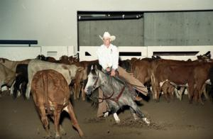 Primary view of object titled 'Cutting Horse Competition: Image 1997_D-10_20'.