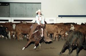 Primary view of object titled 'Cutting Horse Competition: Image 1997_D-10_23'.
