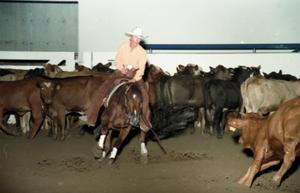 Primary view of object titled 'Cutting Horse Competition: Image 1997_D-10_31'.