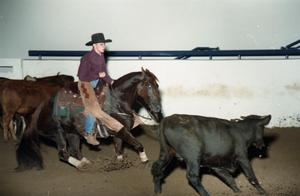Primary view of object titled 'Cutting Horse Competition: Image 1997_D-10_35'.