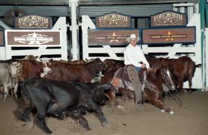 Primary view of object titled 'Cutting Horse Competition: Image 1997_D-110_06'.