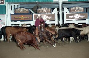 Primary view of object titled 'Cutting Horse Competition: Image 1997_D-110_29'.