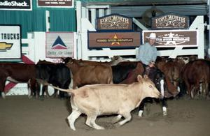 Primary view of object titled 'Cutting Horse Competition: Image 1997_D-111_14'.