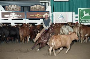 Primary view of object titled 'Cutting Horse Competition: Image 1997_D-113_14'.