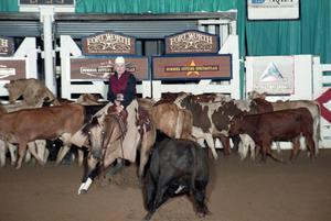 Primary view of object titled 'Cutting Horse Competition: Image 1997_D-114_17'.