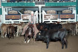 Primary view of object titled 'Cutting Horse Competition: Image 1997_D-114_18'.
