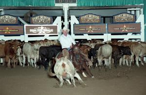 Primary view of object titled 'Cutting Horse Competition: Image 1997_D-115_02'.