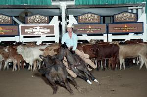 Primary view of object titled 'Cutting Horse Competition: Image 1997_D-116_02'.