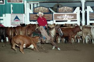 Primary view of object titled 'Cutting Horse Competition: Image 1997_D-116_08'.