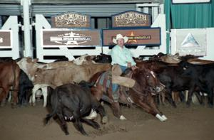 Primary view of object titled 'Cutting Horse Competition: Image 1997_D-116_22'.