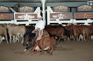 Primary view of object titled 'Cutting Horse Competition: Image 1997_D-116_24'.
