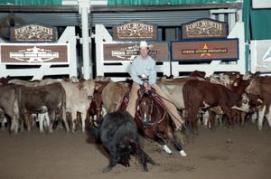 Primary view of object titled 'Cutting Horse Competition: Image 1997_D-116_28'.