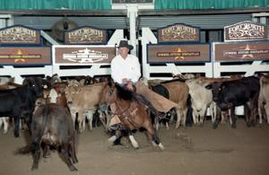 Primary view of object titled 'Cutting Horse Competition: Image 1997_D-117_01'.