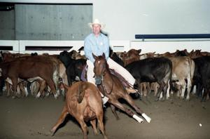 Primary view of object titled 'Cutting Horse Competition: Image 1997_D-11_03'.