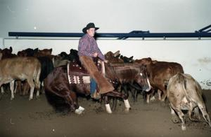 Primary view of object titled 'Cutting Horse Competition: Image 1997_D-11_11'.