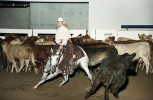 Primary view of object titled 'Cutting Horse Competition: Image 1997_D-11_25'.