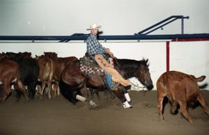 Primary view of object titled 'Cutting Horse Competition: Image 1997_D-11_29'.