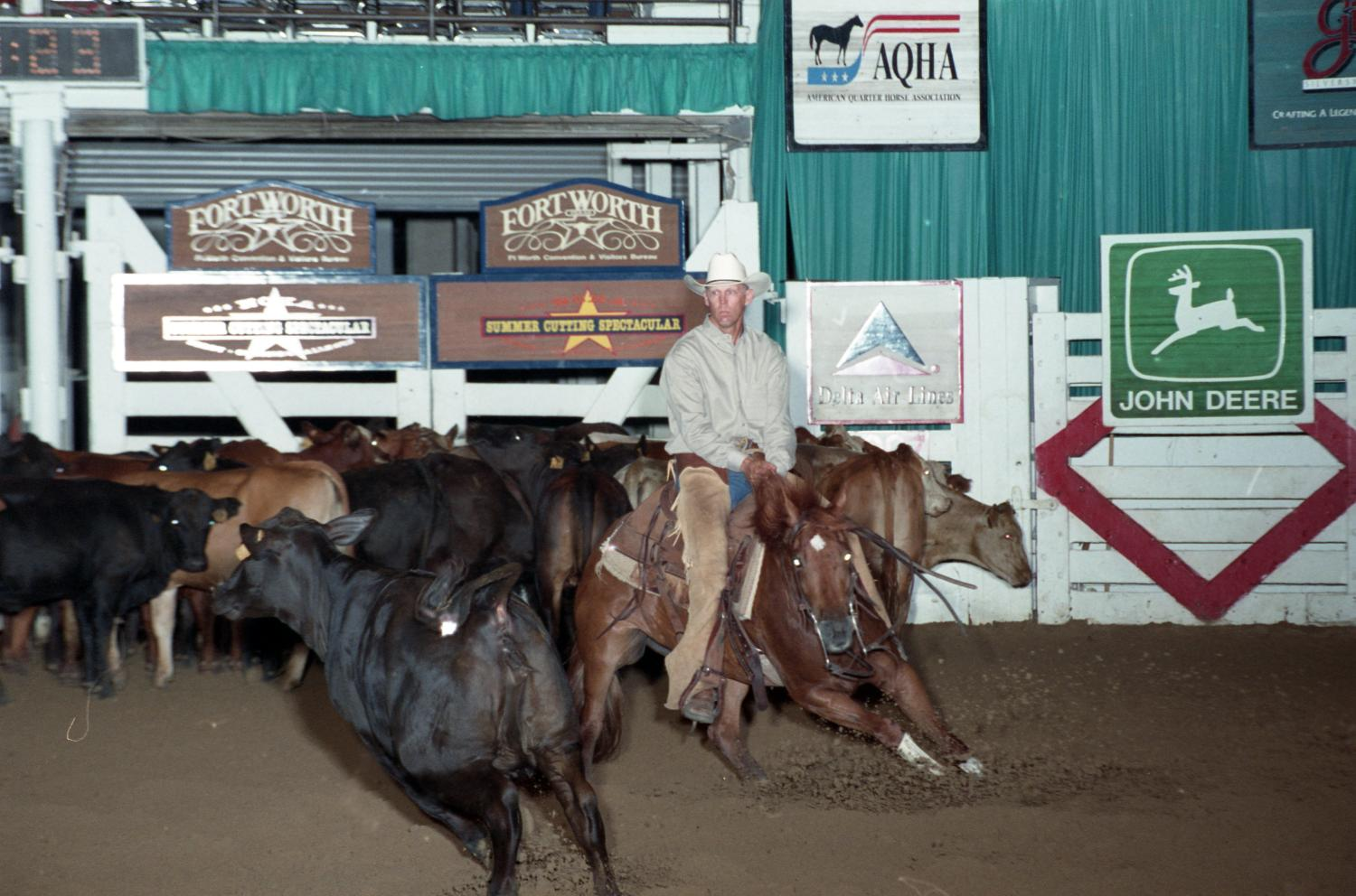 Cutting Horse Competition: Image 1997_D-123_09                                                                                                      [Sequence #]: 1 of 1