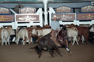 Primary view of object titled 'Cutting Horse Competition: Image 1997_D-126_08'.
