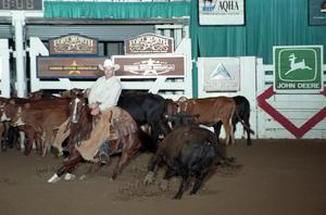 Primary view of object titled 'Cutting Horse Competition: Image 1997_D-127_20'.