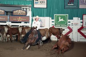 Primary view of object titled 'Cutting Horse Competition: Image 1997_D-129_22'.