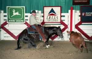 Primary view of object titled 'Cutting Horse Competition: Image 1997_D-12_11'.