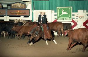 Primary view of object titled 'Cutting Horse Competition: Image 1997_D-12_14'.