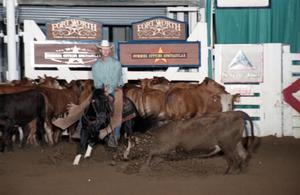 Primary view of object titled 'Cutting Horse Competition: Image 1997_D-131_32'.