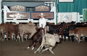 Primary view of object titled 'Cutting Horse Competition: Image 1997_D-132_08'.