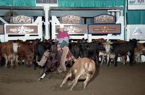 Primary view of object titled 'Cutting Horse Competition: Image 1997_D-132_16'.