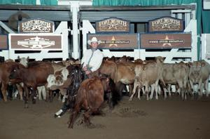 Primary view of object titled 'Cutting Horse Competition: Image 1997_D-133_19'.